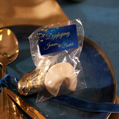 CIASTECZKO dla gości z wróżbą Kolekcja Granatowa (+etykieta)