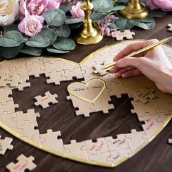 KSIĘGA GOŚCI kraftowa w kształcie serca Puzzle