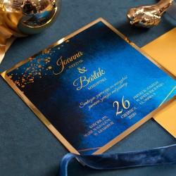 ZAPROSZENIE ślubne personalizowane Kolekcja Granatowa