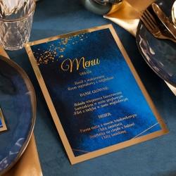 MENU weselne Kolekcja Granatowa
