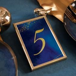 TABLICZKA na stolik z personalizacją Kolekcja Granatowa (+złota ramka)