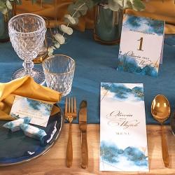 CIASTECZKO dla gości z wróżbą Kolekcja Złoto-Granatowa (+etykieta)