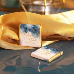 CZEKOLADKA ślubna personalizowana Kolekcja Złoto-Granatowa
