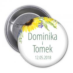 PRZYPINKA kotylion personalizowana Kolekcja Słoneczniki