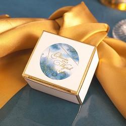 PUDEŁECZKA ze złotym brzegiem Złoto-Granatowa 10szt (+etykieta)