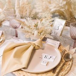 KSIĘGA gości weselnych Rustic Pampas BIAŁE KARTKI