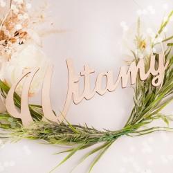 WITAMY napis drewniany dekoracja ślubna
