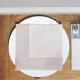 SERWETKI flizelinowe jasnobrązowe FAKTURA LNU 40x40cm 50szt
