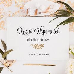 KSIĘGA Wspomnień dla Rodziców Gałązka Miłości BIAŁE/CZARNE KARTKI