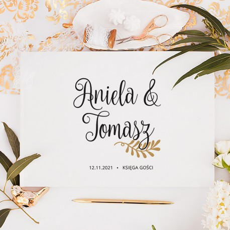 KSIĘGA GOŚCI weselnych z imionami Gałązka Miłości