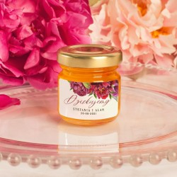 Miód personalizowany, słodki upominek na ślub i wesele. Świetny pomysł na słodką niespodziankę dla gości weselnych.