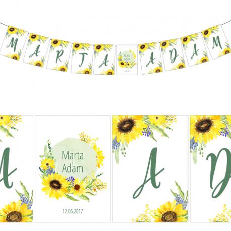 LITERA do baneru personalizowanego Kolekcja Słoneczniki
