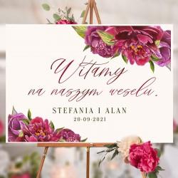 PLAKAT personalizowany kolekcja ślubna All You need is LOVE z imionami Pary Młodej.