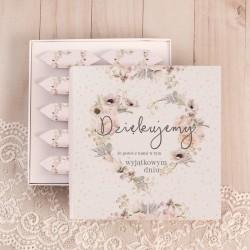BOMBONIERKA z krówkami Sakramento SŁODKIE PODZIĘKOWANIE uniwersalna dla gości weselnych.