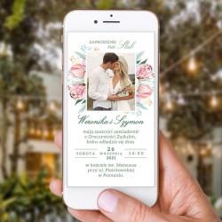 ZAWIADOMIENIE/ZAPROSZENIE ślubne elektroniczne Dream Flowers