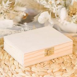 PUDEŁKO na obrączki drewniane Delikatne Lilie Z IMIONAMI