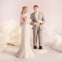 FIGURKA na tort weselny Szary Garnitur