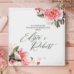 ALBUM ślubny na zdjęcia prezent dla Pary Młodej Złote Gałązki