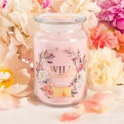 ŚWIECA zapachowa w szkle prezent dla wyjątkowej świadkowej Różowa DUŻA