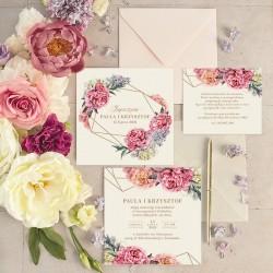 ZAPROSZENIE ślubne personalizowane Sweet Peony