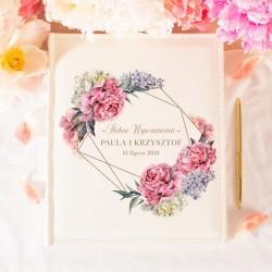 ALBUM ślubny na zdjęcia prezent dla Pary Młodej Sweet Peony