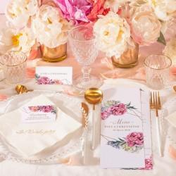 KSIĘGA GOŚCI weselnych Sweet Peony BIAŁE KARTKI