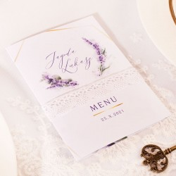MENU weselne Kolekcja Lawenda