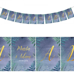 LITERA do baneru personalizowanego Botanica Dark