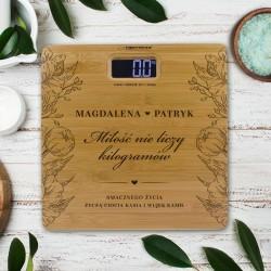 WAGA personalizowana prezent dla Młodej Pary Miłość Nie Liczy Kilogramów