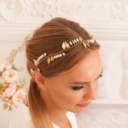 OPASKA ślubna do włosów dla Panny Młodej Adele. Dekoracja fryzury panny Młodej.