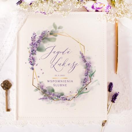 ALBUM ślubny na zdjęcia prezent dla Pary Młodej Kolekcja Lawenda