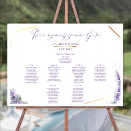 PLAN stołów personalizowany Kolekcja Lawenda
