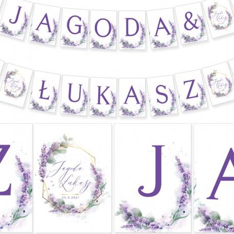 LITERA do baneru personalizowanego Kolekcja Lawenda