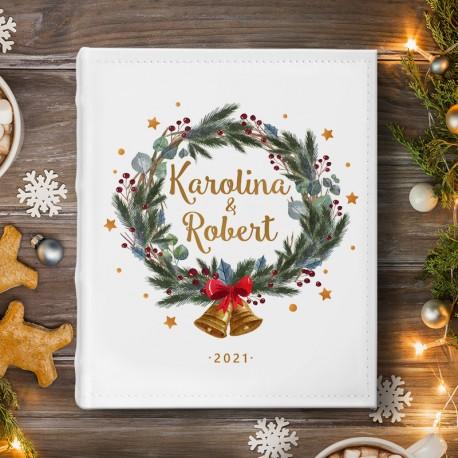 ALBUM Na Zdjęcia Prezent Świąteczny Zimowy Wianek
