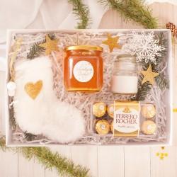 ZESTAW Prezentowy Świąteczny Złote Święta W Pudełku