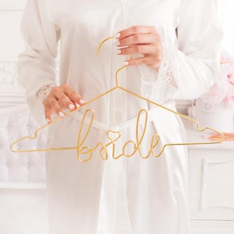 Metalowe wieszaki dla Pary Młodej BRIDE & GROOM