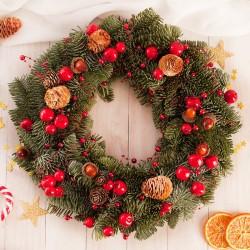 STROIK Na Boże Narodzenie Żywa Jodła Z Bilecikiem PREZENT