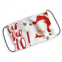 MASECZKA Świąteczna Ochronna Wielokrotnego Użytku Z Filtrem Ho Ho Ho!