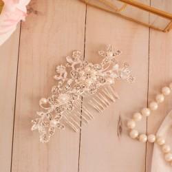 GRZEBYK ślubny do włosów dla Panny Młodej Camille