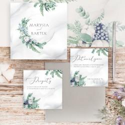 Zaproszenie ślubne z personalizacją. Piękny sposób, aby zaprosić gości na wesele. Nowoczesna grafika z kolekcji Magiczna.