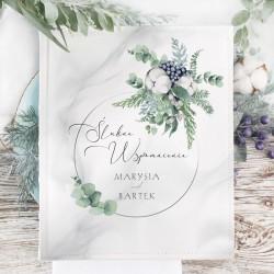 Album ślubny na zdjęcia z personalizowaną okładką. Idealny prezent dla Pary Młodej i pamiątka z uroczystości.