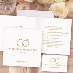 ZAPROSZENIE ślubne personalizowane Kolekcja Obrączki. W piękny sposób zaprosicie gości na uroczystość zaślubin.