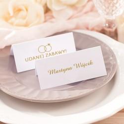 Wizytówka ślubna personalizowana z kolekcji Obrączki.