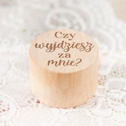 PUDEŁKO na pierścionek zaręczynowy Czy Wyjdziesz za Mnie?