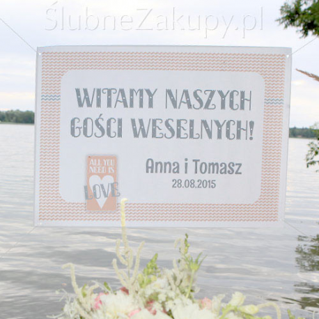 PLAKAT personalizowany 50x70cm All you need is...