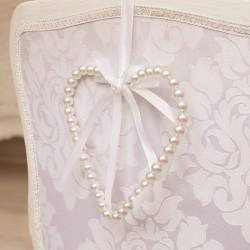SERCE perłowe ekskluzywne do zawieszenia