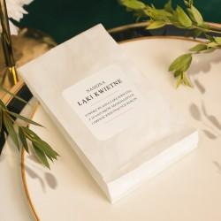 WORECZEK z nasionami upominek dla gości weselnych Butelkowa Zieleń