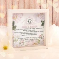 SKARBONKA 3D Prezent Na Rocznicę Ślubu Sweet Roses