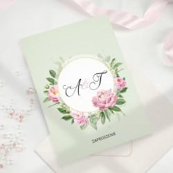 ZAPROSZENIE ślubne personalizowane Pistacjowe