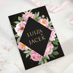 ZAPROSZENIE ślubne personalizowane Kwiatowe